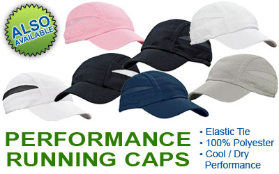 Personalized Performance Running Caps